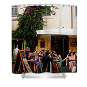 La Dolce Vita At A Cafe In Italy Shower Curtain