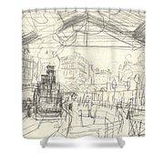La Gare Saint Lazare Shower Curtain by Claude Monet