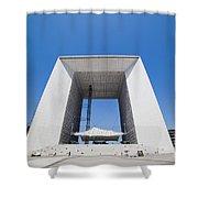 La Grande Arch In La Defense Business District Paris France Shower Curtain
