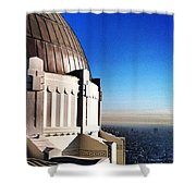 La Griffith Observatory Afternoon Shower Curtain