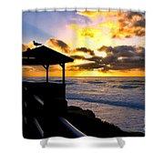 La Jolla At Sunset By Diana Sainz Shower Curtain by Diana Sainz