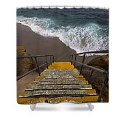 La Jolla Stairs 2 Shower Curtain