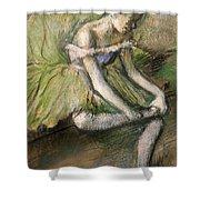 La Jupe Verte Shower Curtain by Edgar Degas