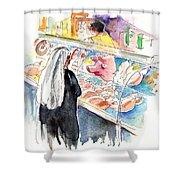 La Laguna Market 03 Shower Curtain