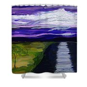 La Luna 7 Shower Curtain
