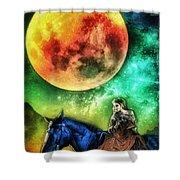 La Luna Shower Curtain by Mo T
