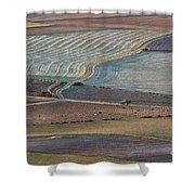 La Mancha Landscape - Spain Series-ocho Shower Curtain