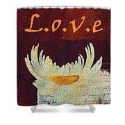 La Marguerite - Love Red Wine  Shower Curtain