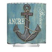 La Mer Ancre Shower Curtain by Debbie DeWitt