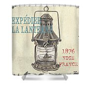 La Mer Lanterne Shower Curtain by Debbie DeWitt
