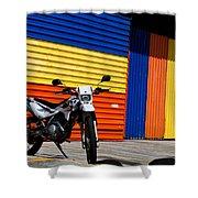 La Motocicleta Shower Curtain