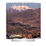 La Paz Skyline At Sundown Shower Curtain