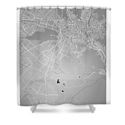 La Paz  Street Map - La Paz Bolivia Road Map Art On Colored Back Shower Curtain