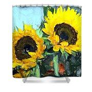 La Peinture Impressionniste De Tournesol Shower Curtain