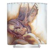 La Pieta By Michelangelo Shower Curtain