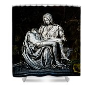 La Pieta Shower Curtain