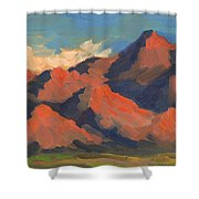 La Quinta Mountains Morning Shower Curtain