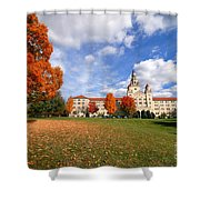 La Roche College On A Fall Day Shower Curtain