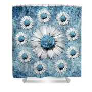 La Ronde Des Marguerites - Blue V02 Shower Curtain by Variance Collections