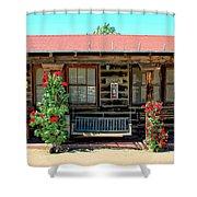 La Rosa Motel Pioneer Town Shower Curtain