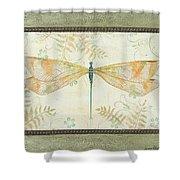 La Sauge Libellule-3 Shower Curtain