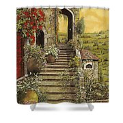 La Scala Grande Shower Curtain by Guido Borelli