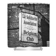 La Solidarite Association Belgium Club Shower Curtain