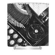 La Tecnica - The Typewriter Of Julio Shower Curtain