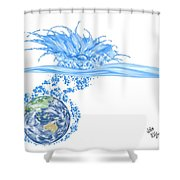 Le Toilette Shower Curtain