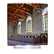 Los Angeles Union Station At Its 75th Anniversary Shower Curtain
