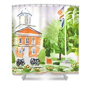 Labor Day Morning  Shower Curtain
