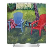 Labor Day Weekend Shower Curtain