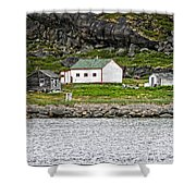 Labrador Fish Camp Shower Curtain by Ben Shields