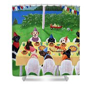 Labrador Party Shower Curtain