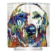 Labrador Retriever Art - Play With Me - By Sharon Cummings Shower Curtain