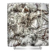 Labyrinth Of Ice Shower Curtain
