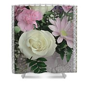 Lace Framed Mothers Day Shower Curtain