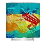 Lacia Stratos Watercolor 1 Shower Curtain by Naxart Studio