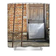 Ladder And Door Shower Curtain