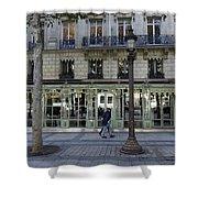 Laduree On The Champs De Elysees In Paris France  Shower Curtain