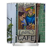 Ladies Cafe Shower Curtain