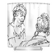 Ladies Chatting Shower Curtain