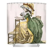 Ladies Elaborate Gown, Engraved Shower Curtain
