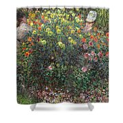 Ladies In Flowers Shower Curtain