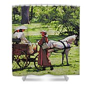 Ladies In The Meadow Shower Curtain