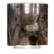 Ladies Room Shower Curtain by Gary Heller