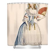 Ladies Turkish Style Evening Dress Shower Curtain