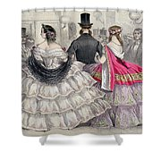 Ladies Wearing Crinolines At The Royal Italian Opera Shower Curtain