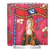 Lady And The Unicorn La Pointe Shower Curtain