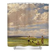 Lady Astor Playing Golf At North Berwick Shower Curtain